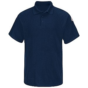 Flame resistant classic short sleeve polo shirt flame for Bulwark flame resistant shirts