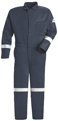 Bulwark Flame Resistant Classic Coverall with Reflective Trim