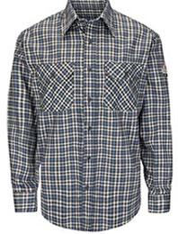 Bulwark Flame Resistant ComforTouch Plaid Uniform Shirt