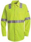 Bulwark Flame Resistant Hi-Visibility Long Sleeve Work Shirt